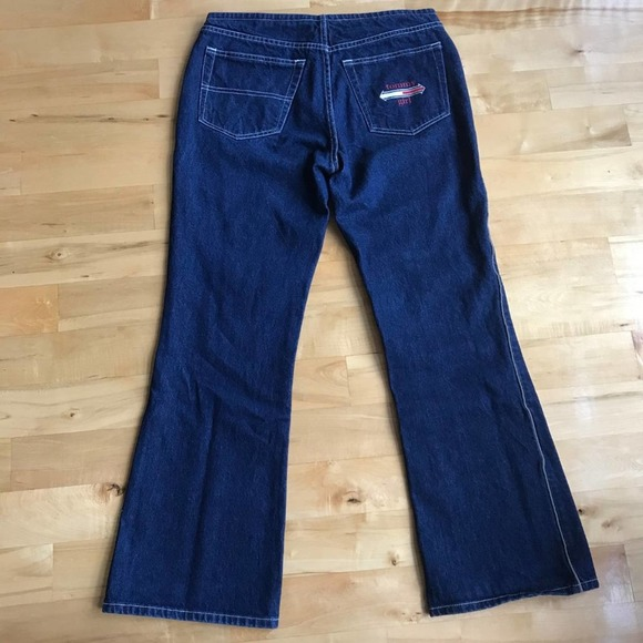 90s Tommy Hilfiger Jeans Cargo Style Cropped Flare Bootcut Jeans size 3